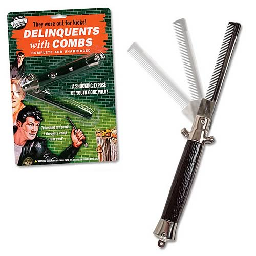 Delinquent Switchblade Folding Comb