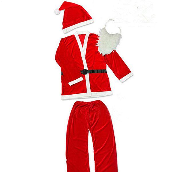 Festival Decor Christmas Santa Claus Cloth 5PCS for Men