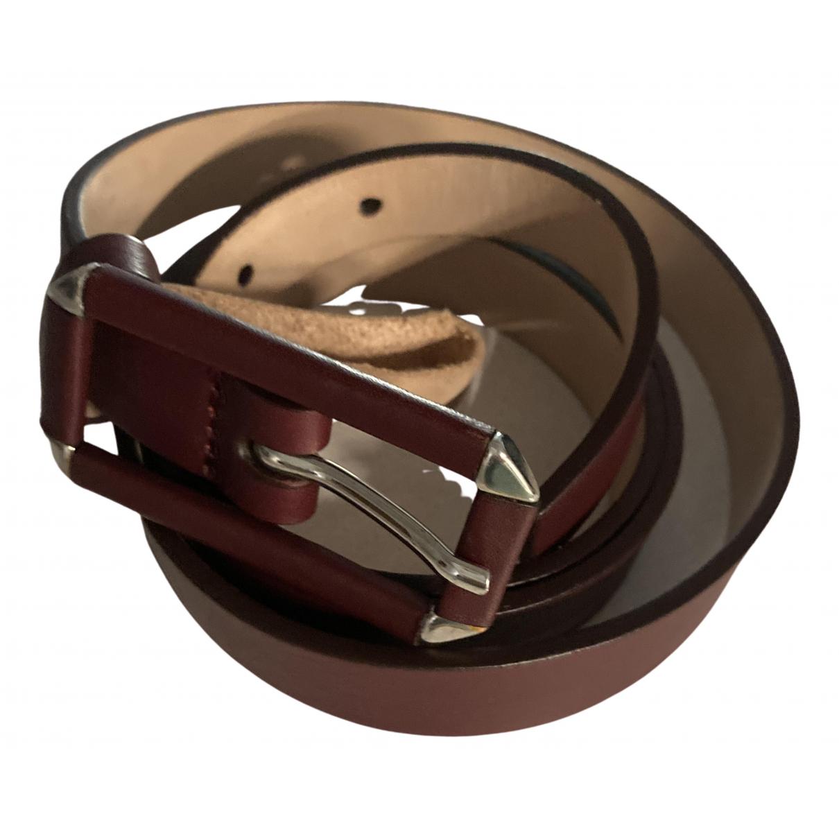 Uterque \N Burgundy Leather belt for Women 85 cm