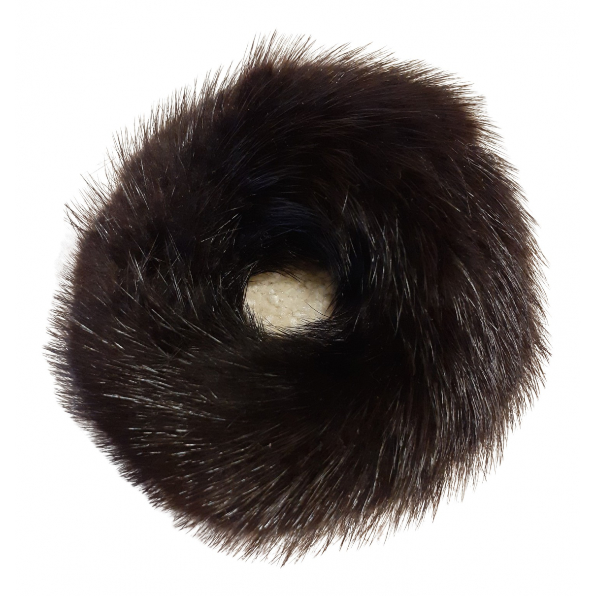 Non Signé / Unsigned \N Black Mink Hair accessories for Women \N