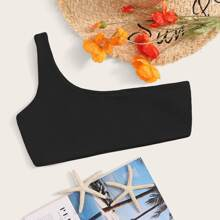 Seamless One Shoulder Swimming Top