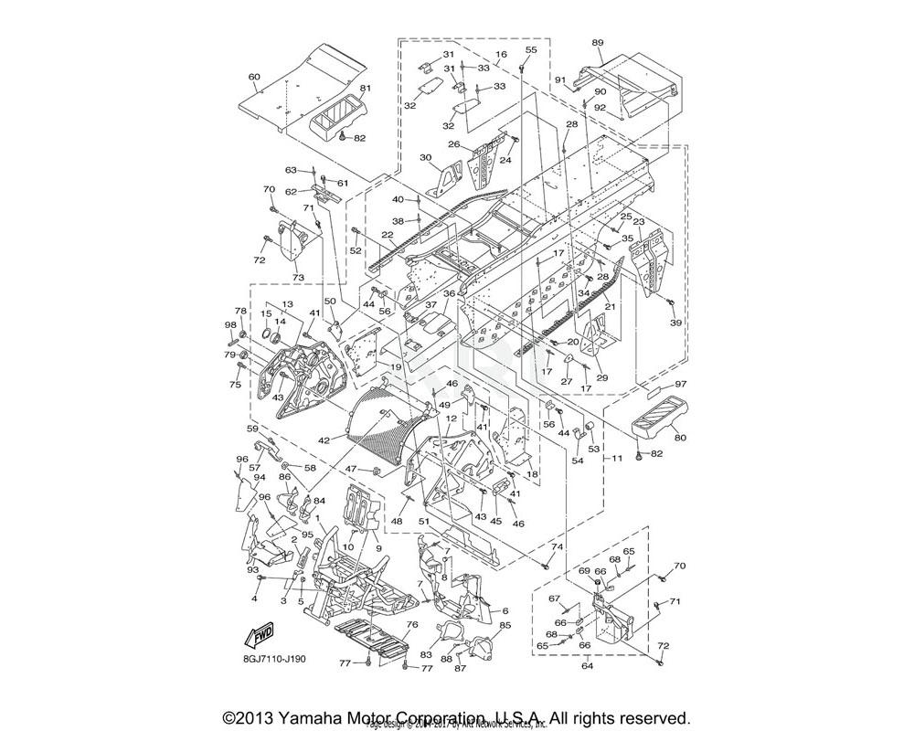 Yamaha OEM 8GJ-2198J-00-00 COVER 3