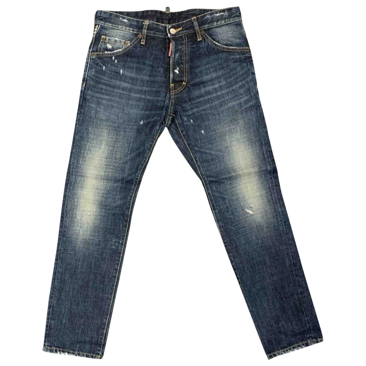 Dsquared2 \N Navy Cotton Jeans for Men 29 US