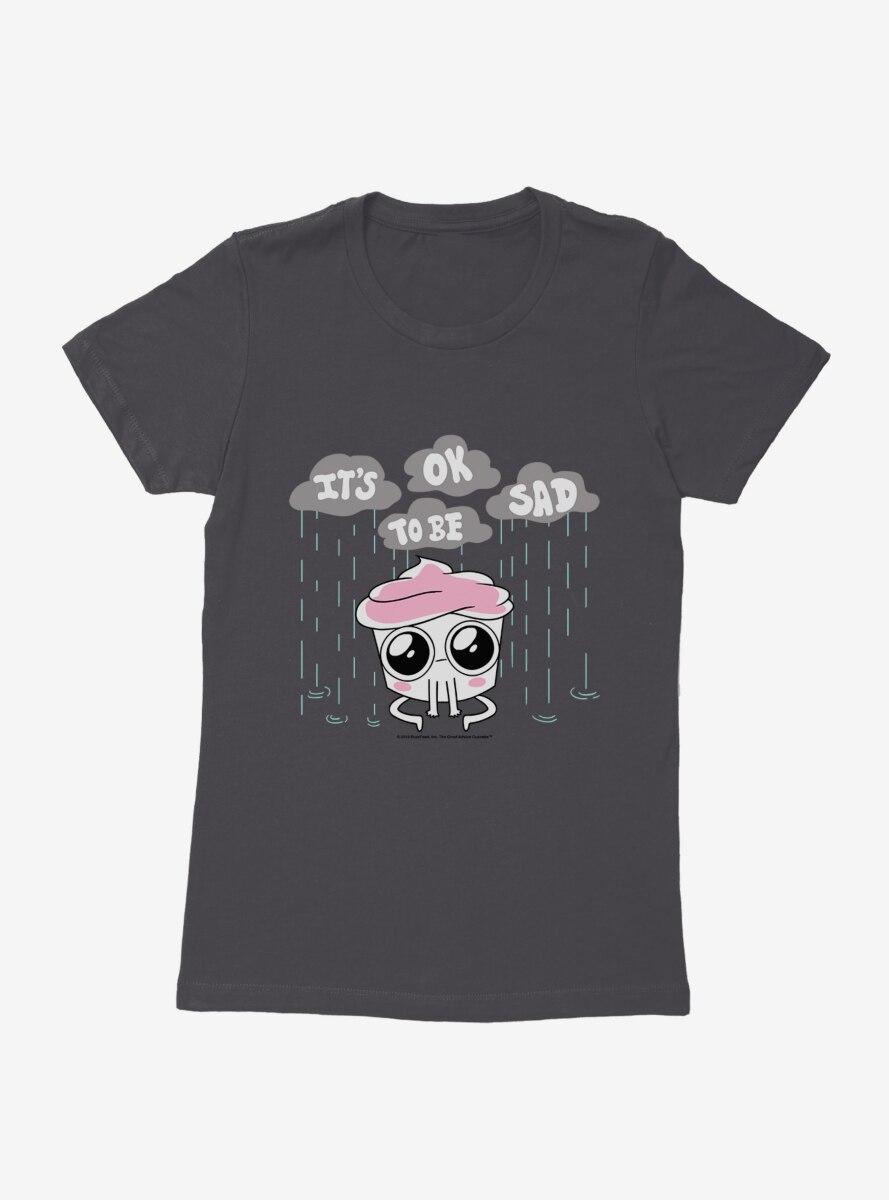 Buzzfeed's The Good Advice Cupcake It's Okay To Be Sad Womens T-Shirt