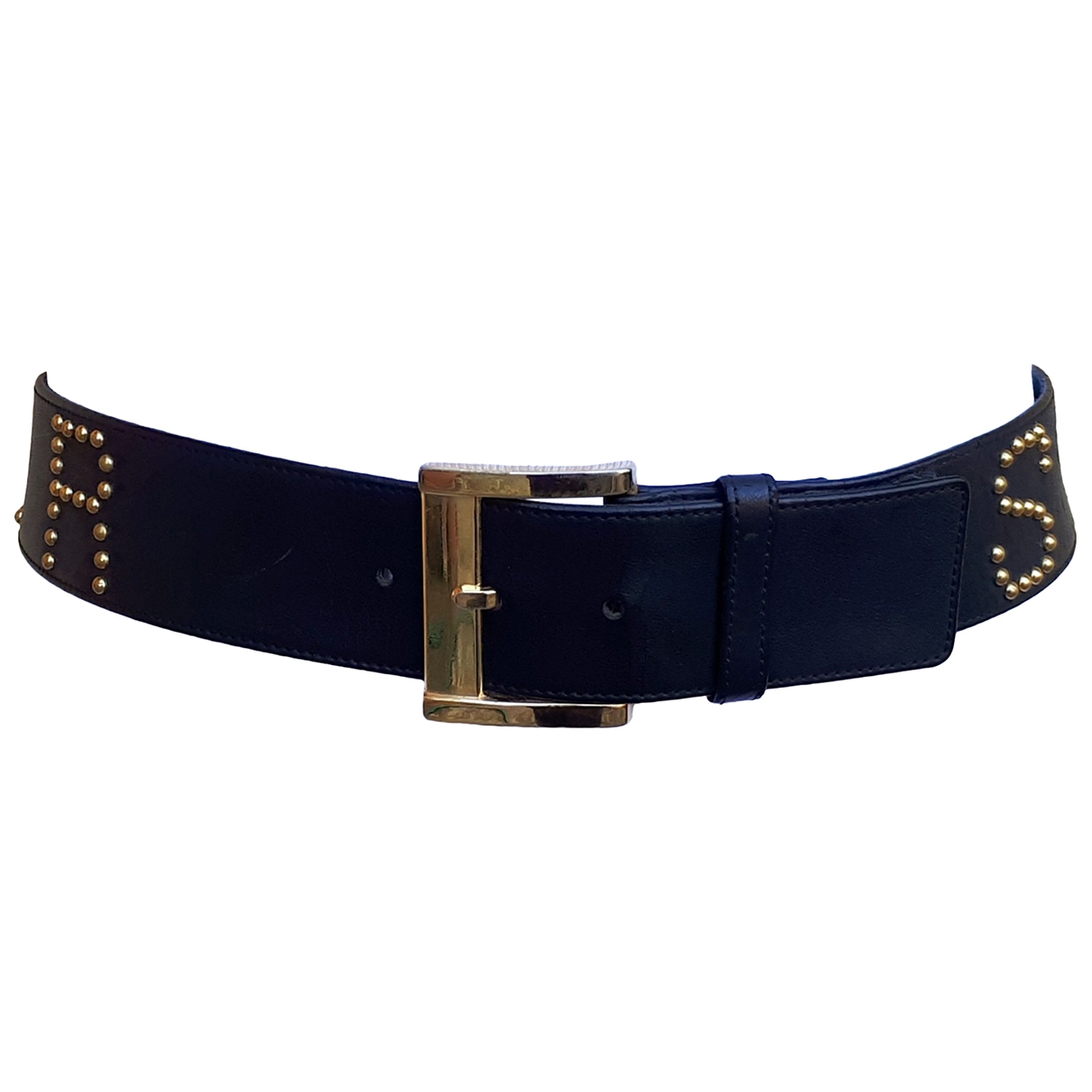 Jean-louis Scherrer \N Black Leather belt for Women 75 cm