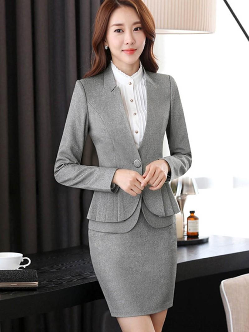 Ericdress Jacket and Bodycon Skirt Women's Suit