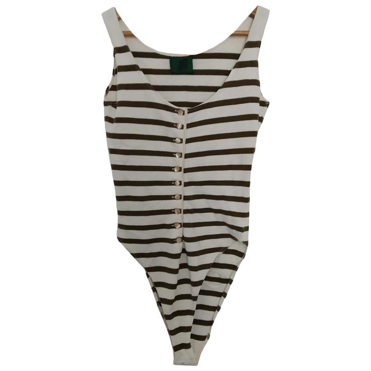 Jean Paul Gaultier \N Khaki Cotton  top for Women 36 FR