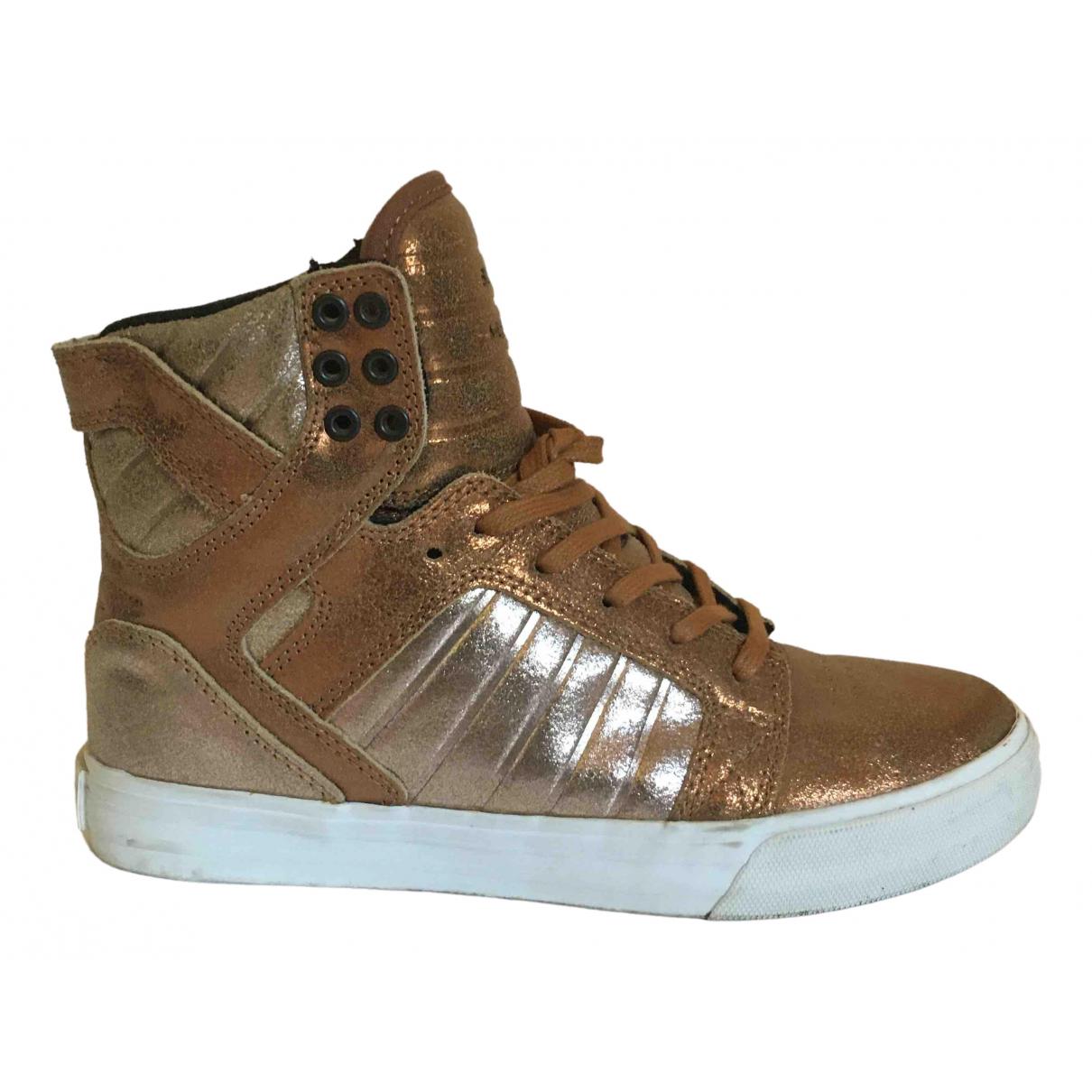 Supra \N Metallic Leather Trainers for Women 37.5 EU