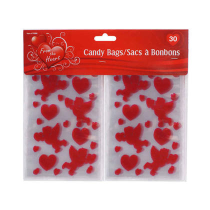 V'tines 30ct. Cello Candy Bags