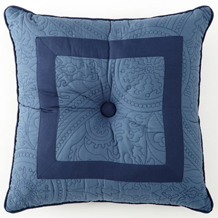 Bensonhurst Tufted Square Decorative Pillow, One Size , Blue