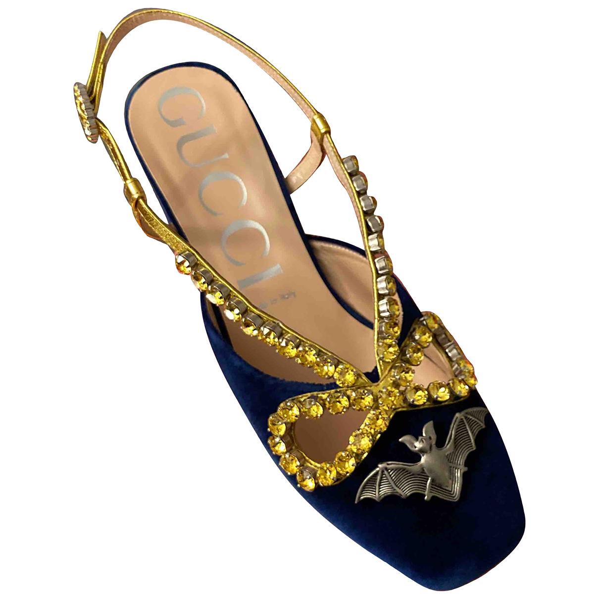 Gucci \N Blue Velvet Heels for Women 39 EU