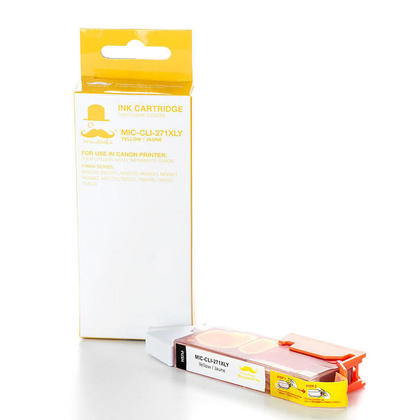 Compatible Canon CLI-271XLY 0339C001 Yellow Ink Cartridge High Yield - Moustache@