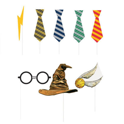 Harry Potter Photo Booth Props, 8ct For Birthday Party