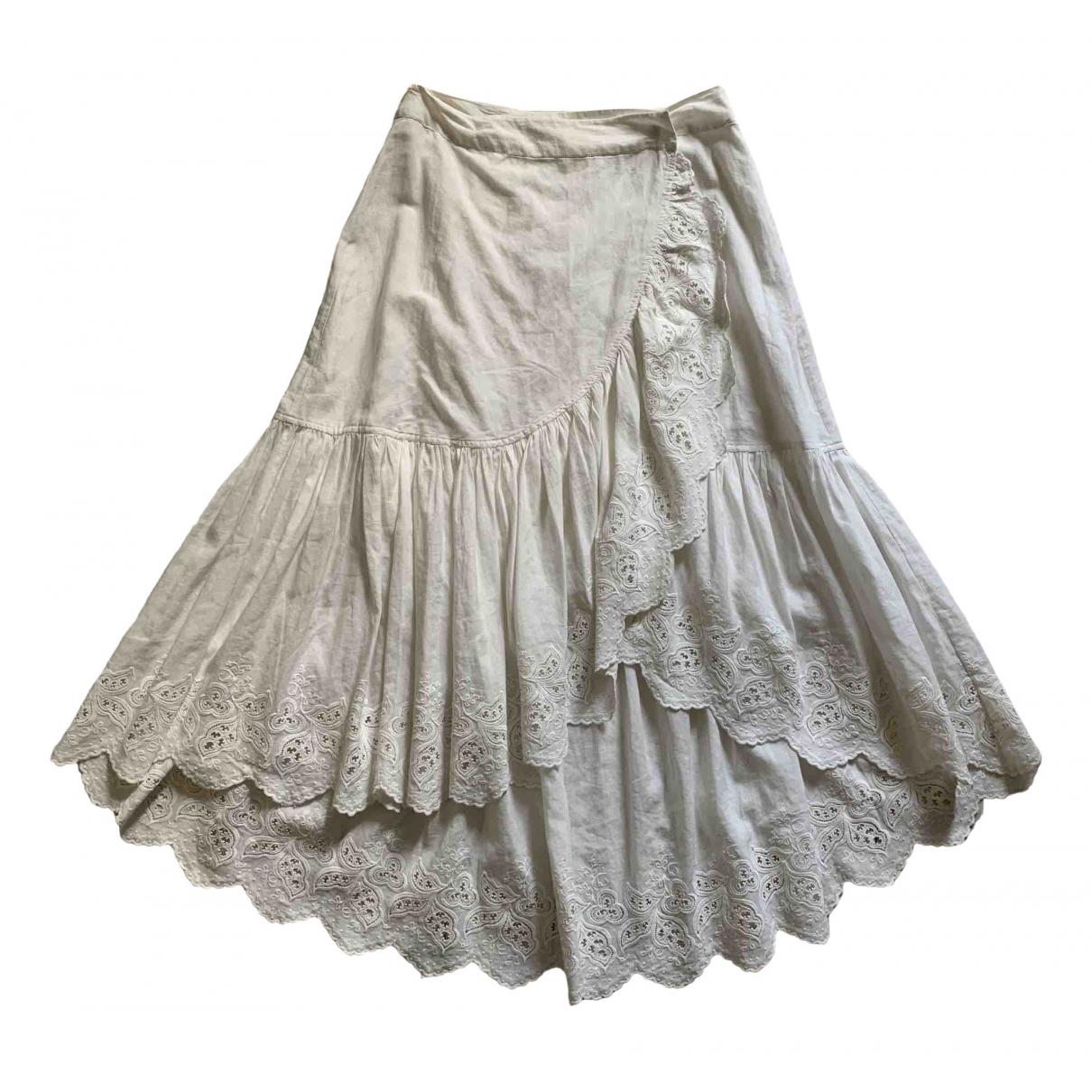 Ulla Johnson \N White Cotton skirt for Women 4 US