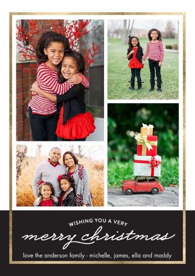 Christmas Photo Cards 5x7 Cards, Premium Cardstock 120lb, Card & Stationery -Christmas Border