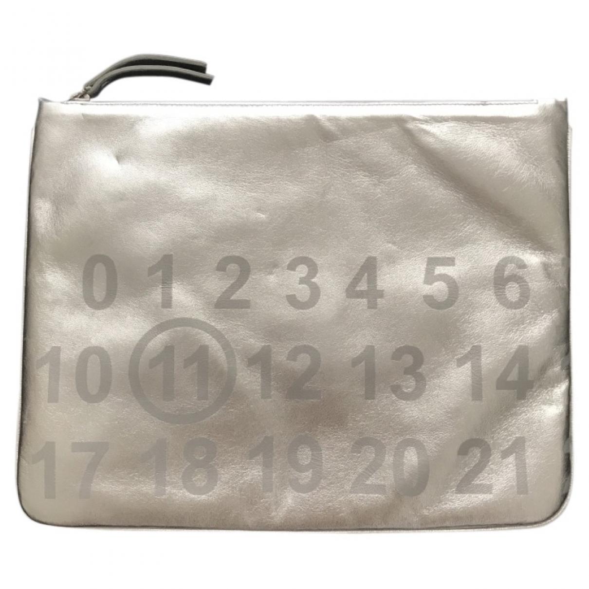 Maison Martin Margiela \N Silver Leather Clutch bag for Women \N