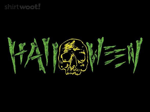 Halloween Skull T Shirt