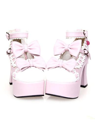 Milanoo Platform Lolita High Heels with Bow Decor