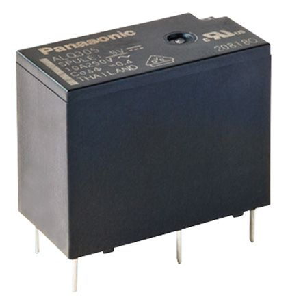 Panasonic , 24V dc Coil Non-Latching Relay SPNO, 10A Switching Current PCB Mount Single Pole (100)