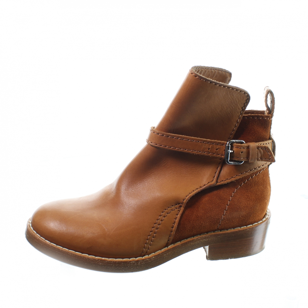 Acne Studios \N Camel Leather Ankle boots for Women 35 EU