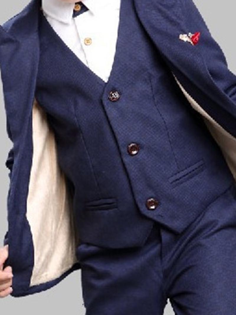 Ericdress British style Two Color Plain 3-Pcs Boys Suit