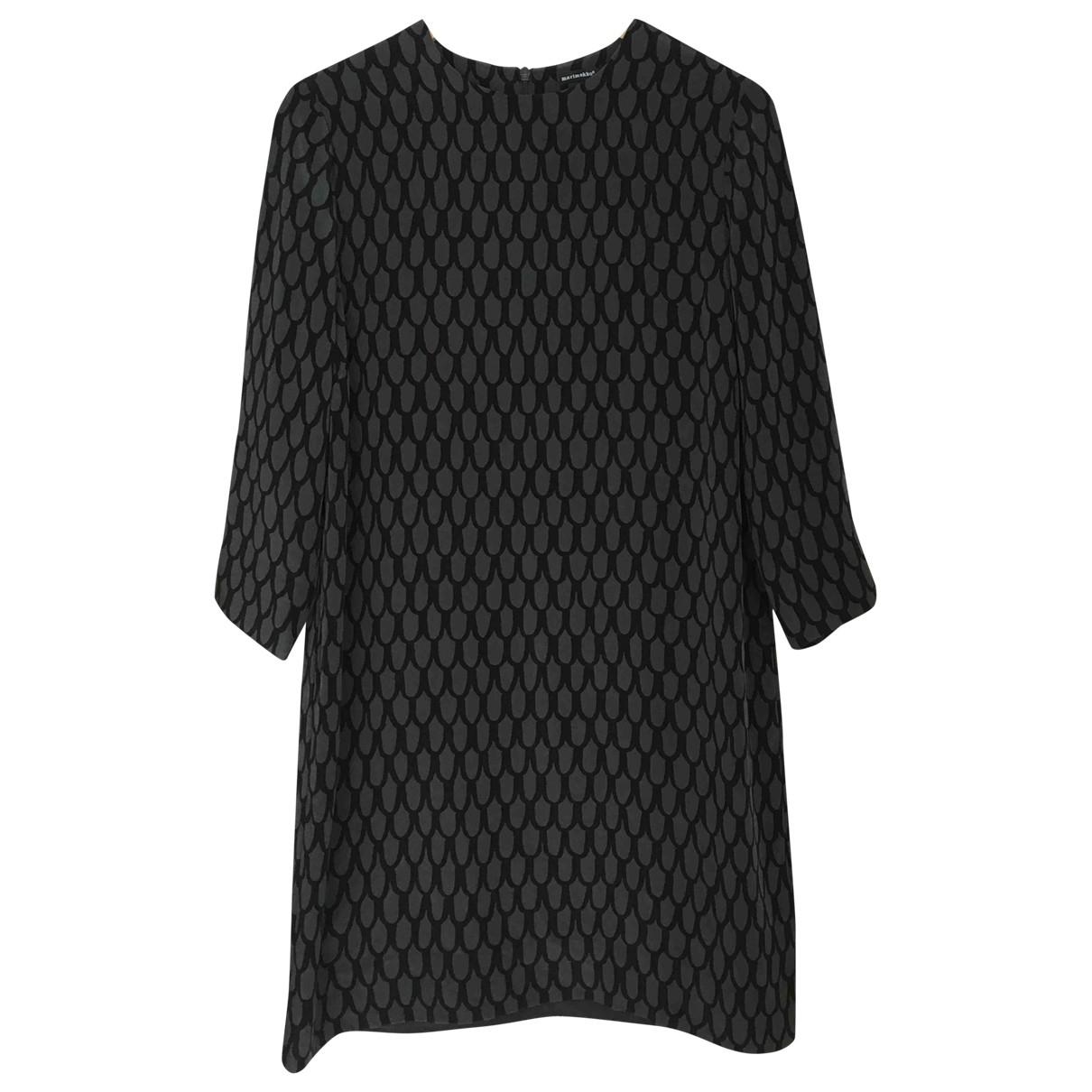 Marimekko \N Grey Silk dress for Women 40 FR