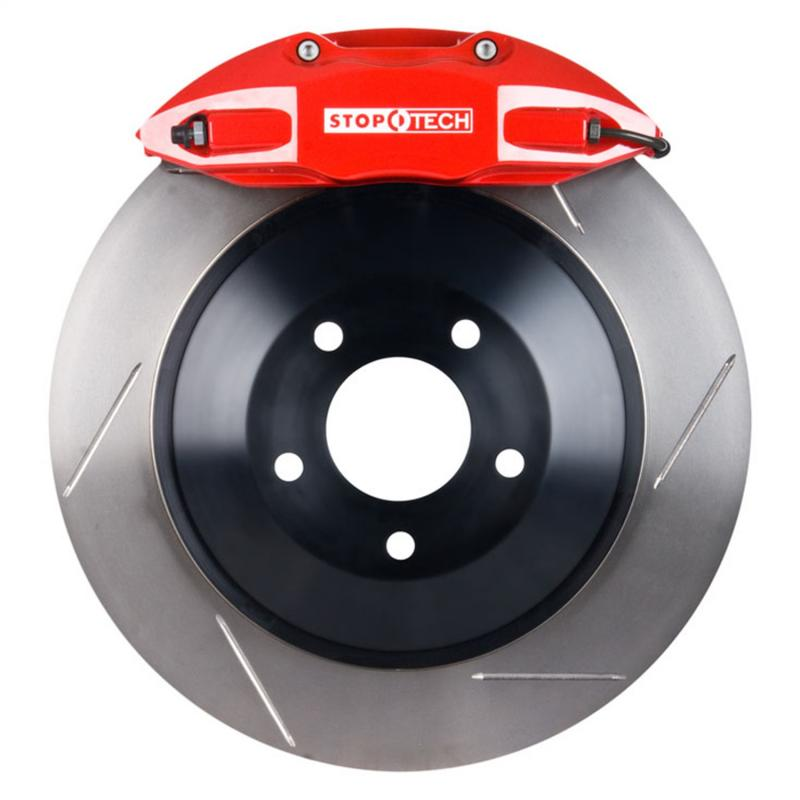 StopTech 82.434.5100.71 Big Brake Kit; Red Caliper; Slotted One-Piece Rotor; Front Honda Civic Front 2007-2011 2.0L 4-Cyl