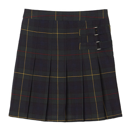 French Toast Plaid Little & Big Girls Scooter Skirt, 16.5 Plus , Green
