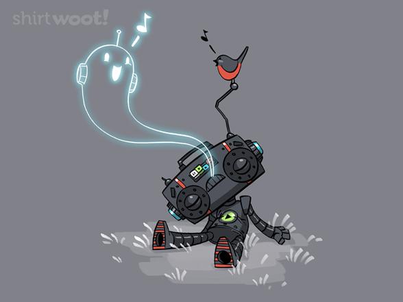 Cute Music Robot Ghost T Shirt