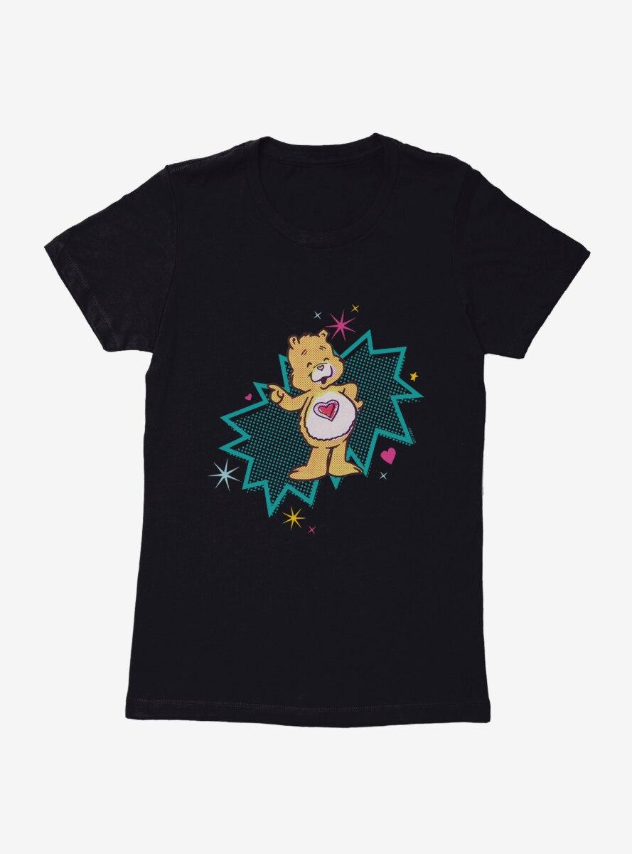Care Bears Retro Tenderheart Bear Pop Womens T-Shirt