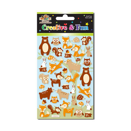 Wild Animals Self-Adhesive Felt Stickers for Arts & Crafts, 4
