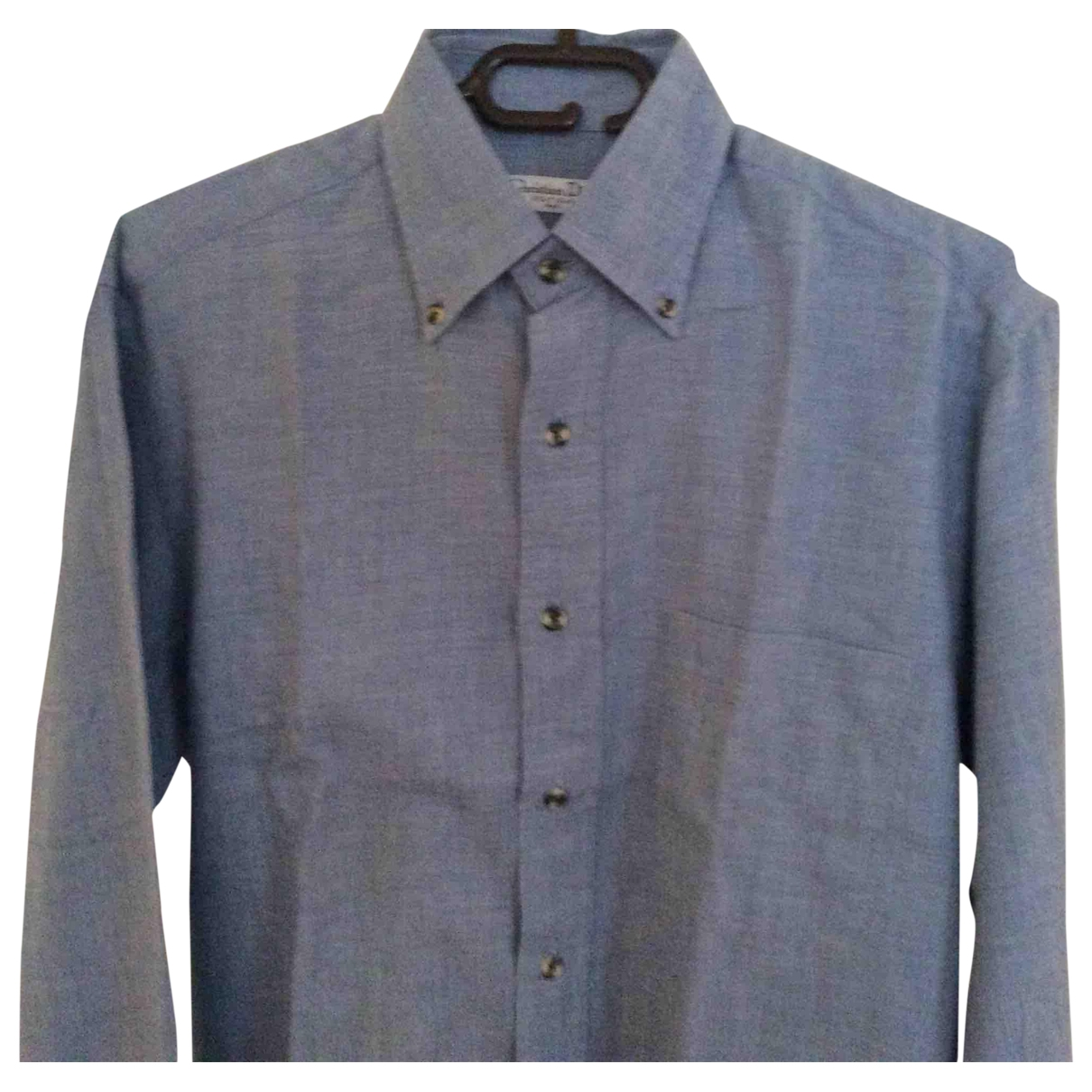 Dior Homme \N Blue Cotton Shirts for Men 38 EU (tour de cou / collar)
