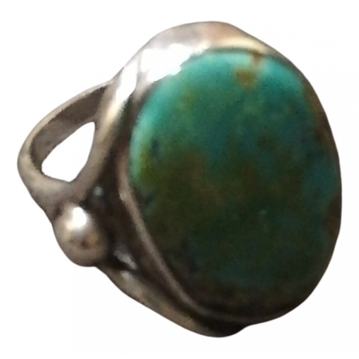 Non Signé / Unsigned Opale Turquoise Silver ring for Women 56 MM