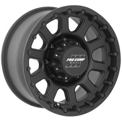 Pro Comp Series 7032, 18x9 Wheel with 8 on 170 Bolt Pattern - Flat Black - 7032-8970