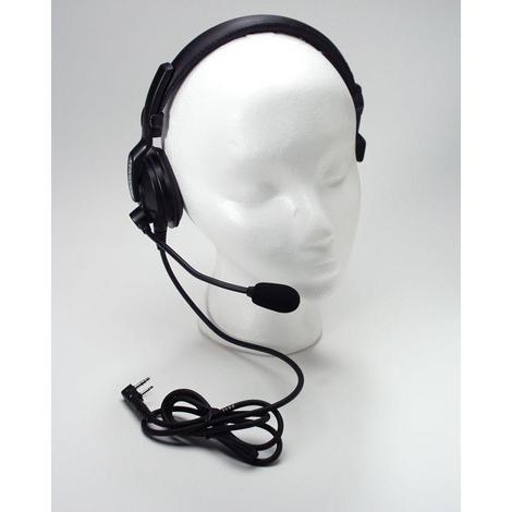 Kenwood Lt Weight Single Muff Headset w/Boom Mic