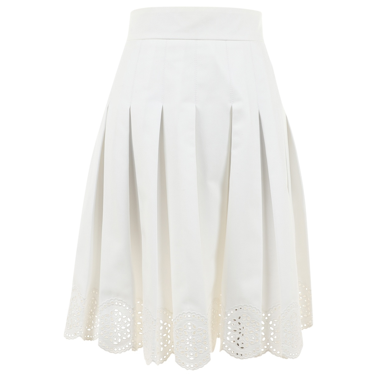 Alexander Mcqueen \N Ecru Cotton skirt for Women 42 IT