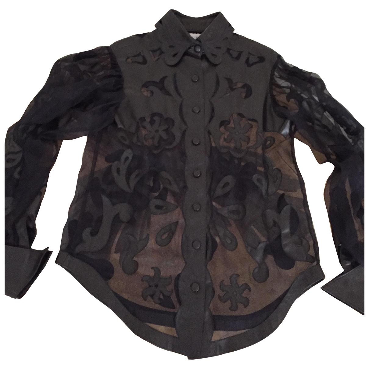 Jitrois \N Black Leather  top for Women 40 FR