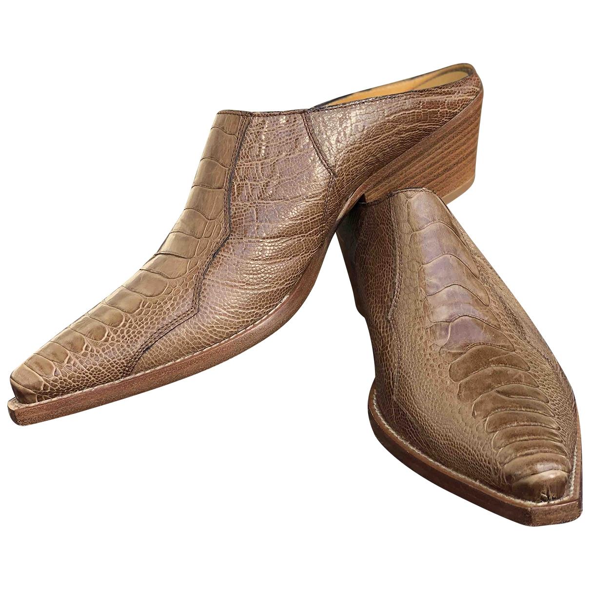 Sartore \N Beige Crocodile Sandals for Women 38.5 EU