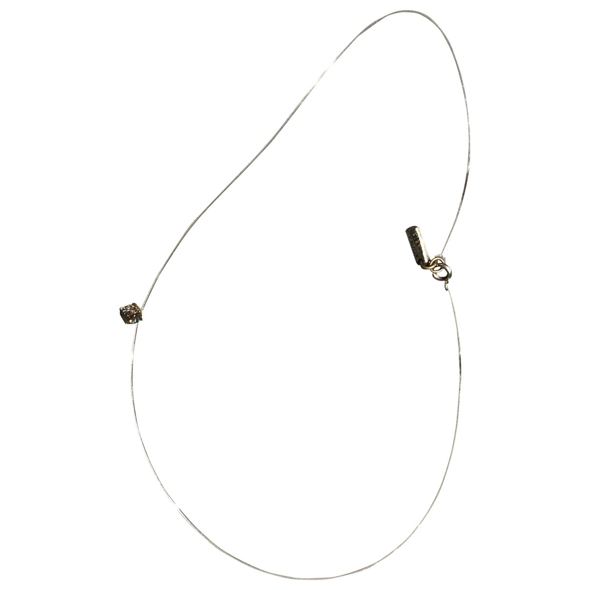 Non Signé / Unsigned \N Grey Metal necklace for Women \N