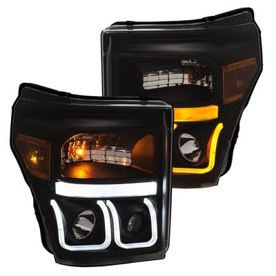 Anzo Switchback Projector Headlights (Black) - 111386