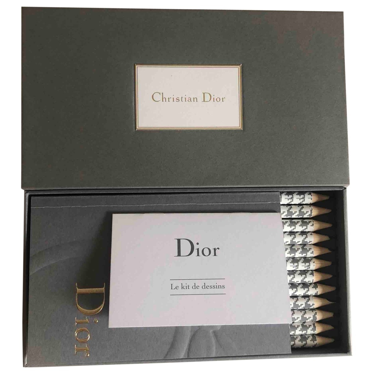 Dior \N Grey Wood Home decor for Life & Living \N