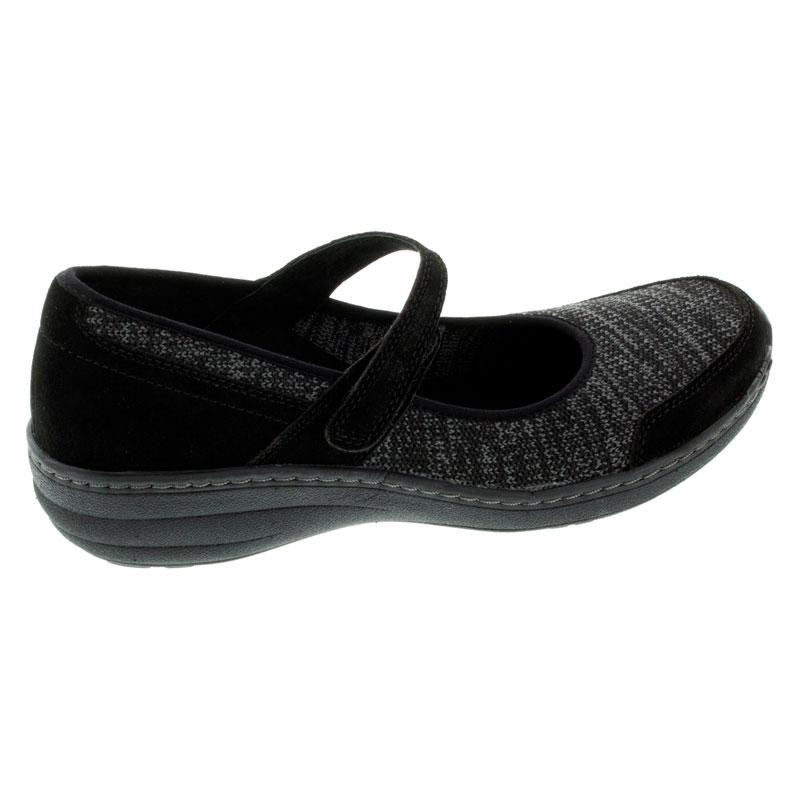 Aetrex Mina Black Synthetic Slip-Resistant 36