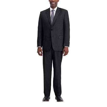 J.M. Haggar Texture Weave Classic Fit Suit Separate Jacket, 46 Regular, Black