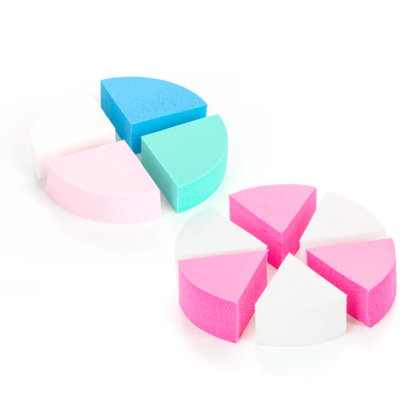 Triangle Makeup Cosmetic Sponge Powder Puff, (6 + 4)Pcs/Pack