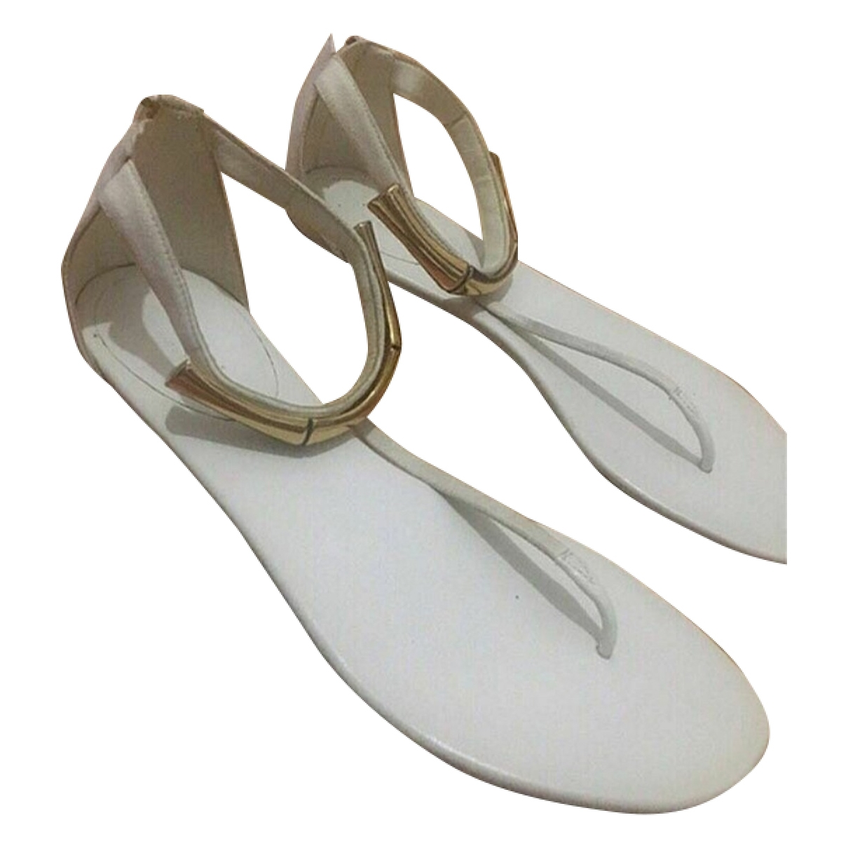 Gucci \N White Suede Sandals for Women 39 EU