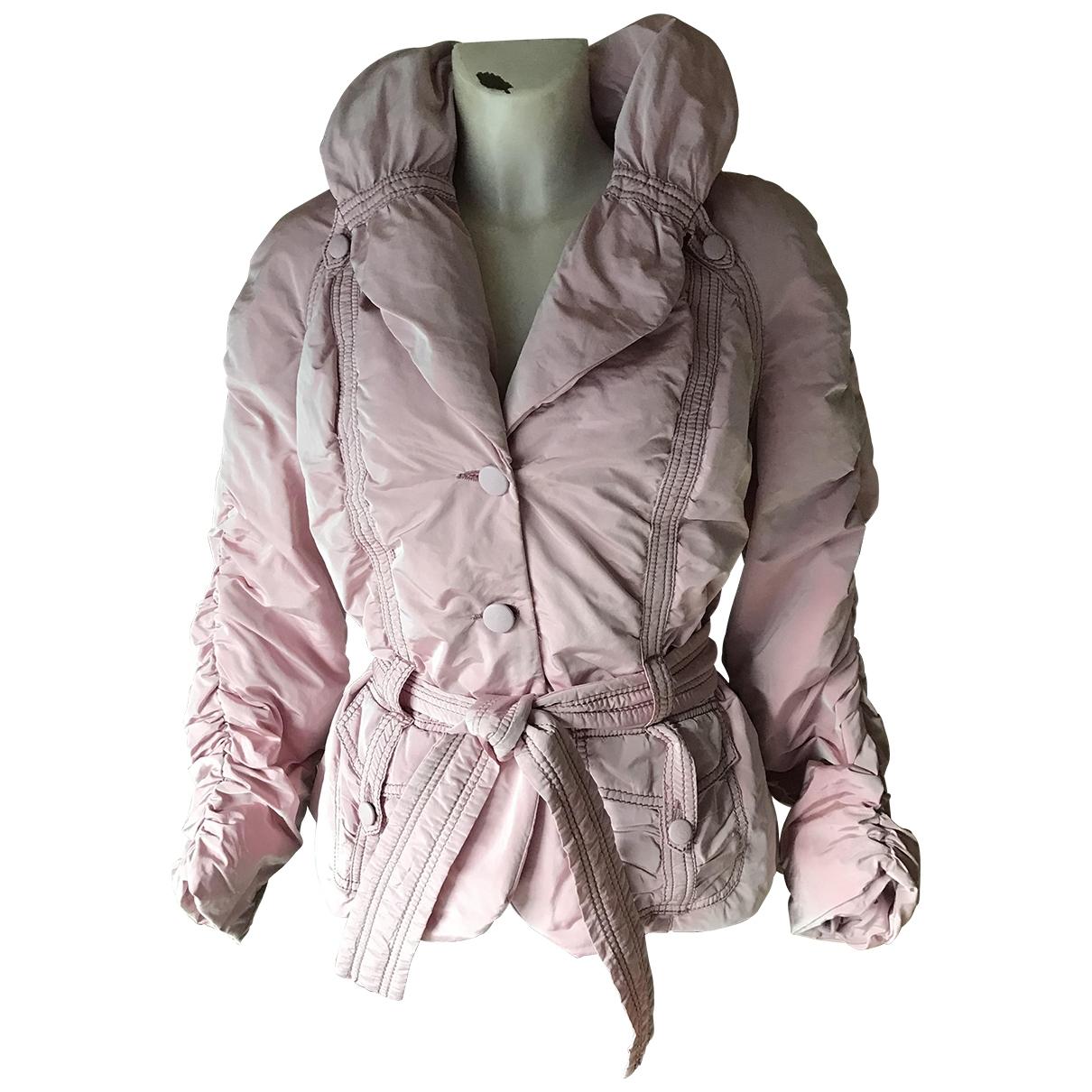 Emanuel Ungaro \N Pink Leather jacket for Women 40 FR