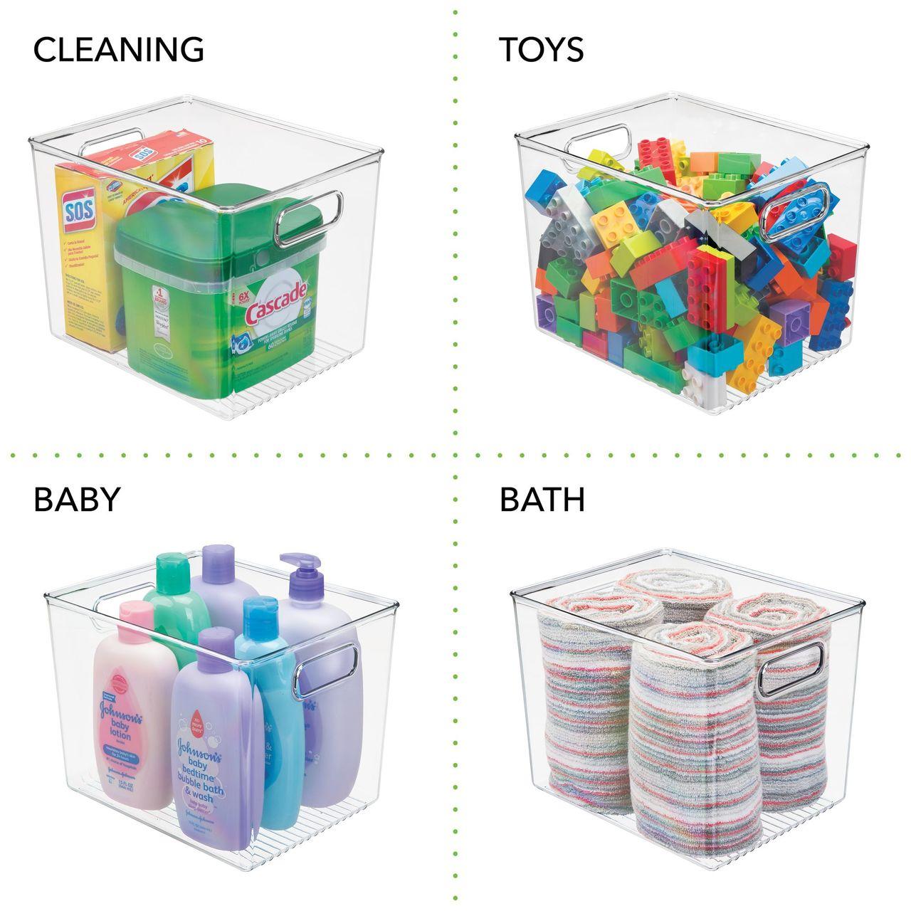Plastic Kitchen Pantry Food Storage Organizer Bin - 10