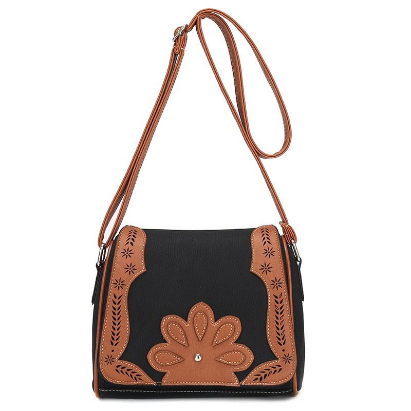 Ericdress Vintage Pillow Shape Floral Decoration Crossbody Bag