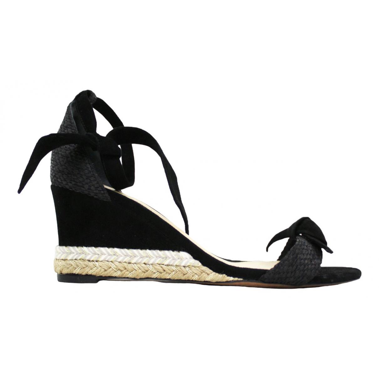 Alexandre Birman \N Black Cloth Sandals for Women 38 EU