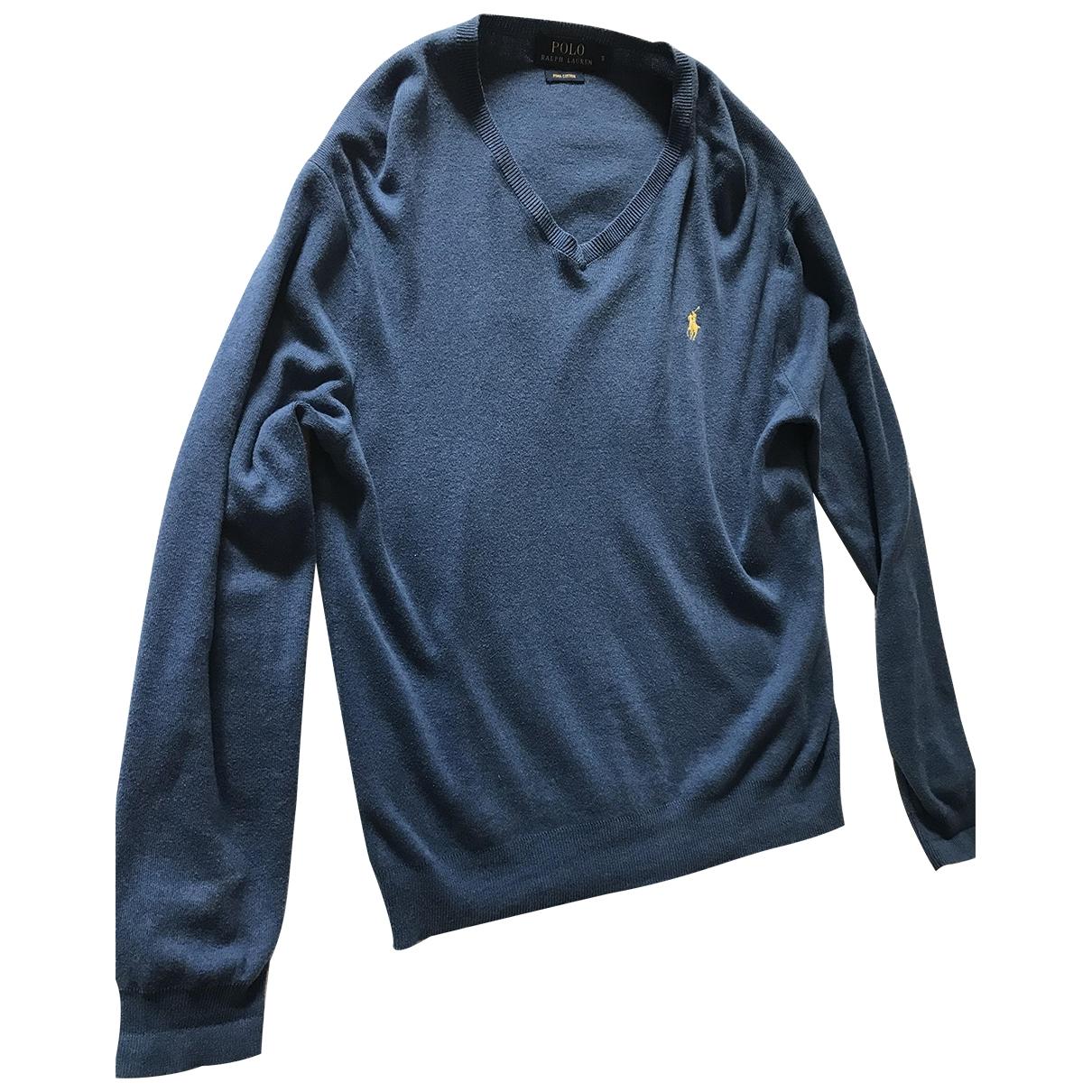 Polo Ralph Lauren \N Blue Cotton Knitwear & Sweatshirts for Men S International